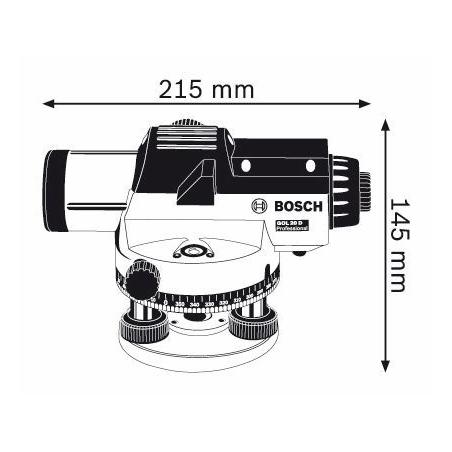 BOSCH Optický nivelačný prístroj GOL 20 D Professional