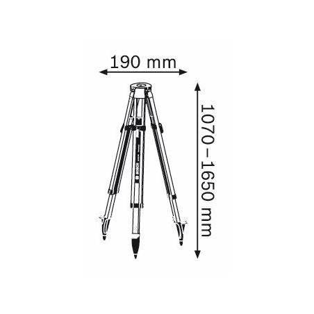 BOSCH Stavebný statív BT 170 HD Professional