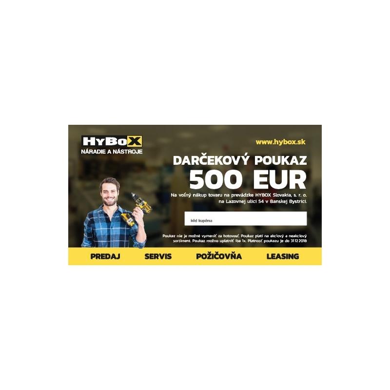 Poukaz na nákup v obchode HYBOX v hodnote 500 €