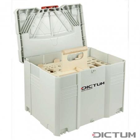 DICTUM Systainer T-LOC s nosičom náradia pre stolára (prázdny)