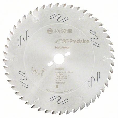 BOSCH Pílový list do okružnej píly Top Precision Best for Wood 165/20/ 1,8:1,3 48 zubov