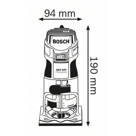 BOSCH Hranová fréza GKF 600 Professional