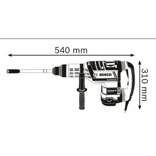 BOSCH Vŕtacie kladivo s SDS max GBH 8-45 DV Professional
