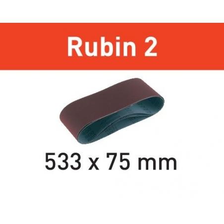Festool Brúsny pás L533X 75-P60 RU2/10 Rubin 2