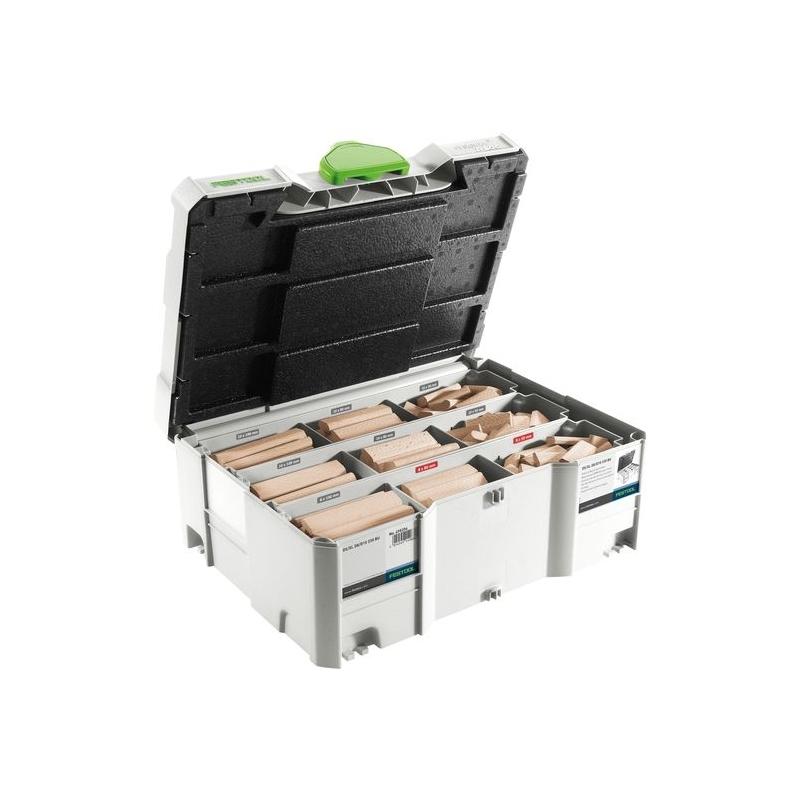 Festool Sortiment kolíkov DOMINO XL buk DS/XL D8/D10 306x BU