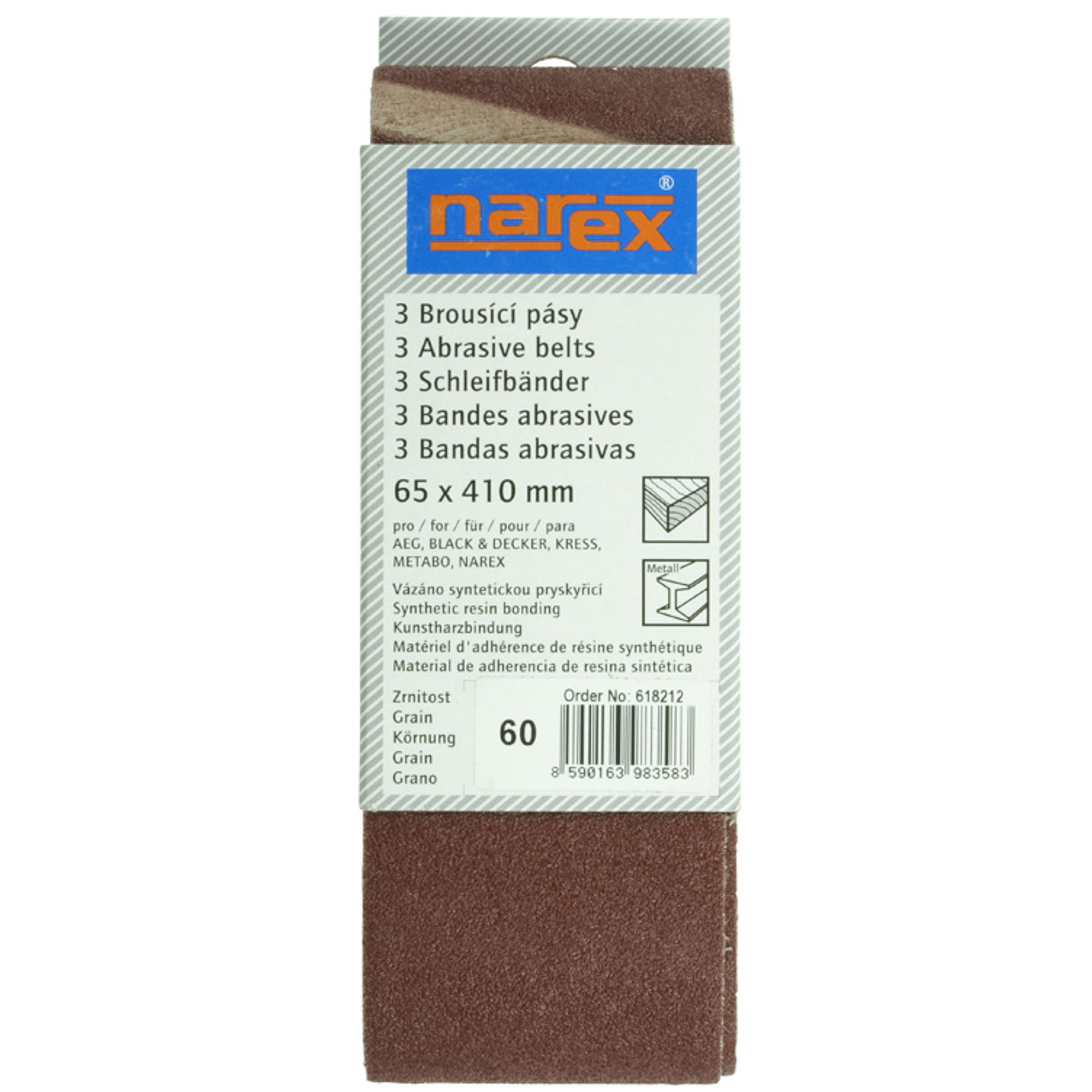 Narex 65×410 P60 - Brúsny pás