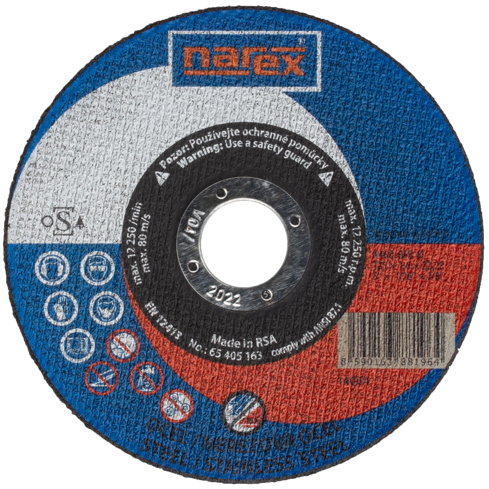 Narex SET RK ø 125×1.6×22.2...