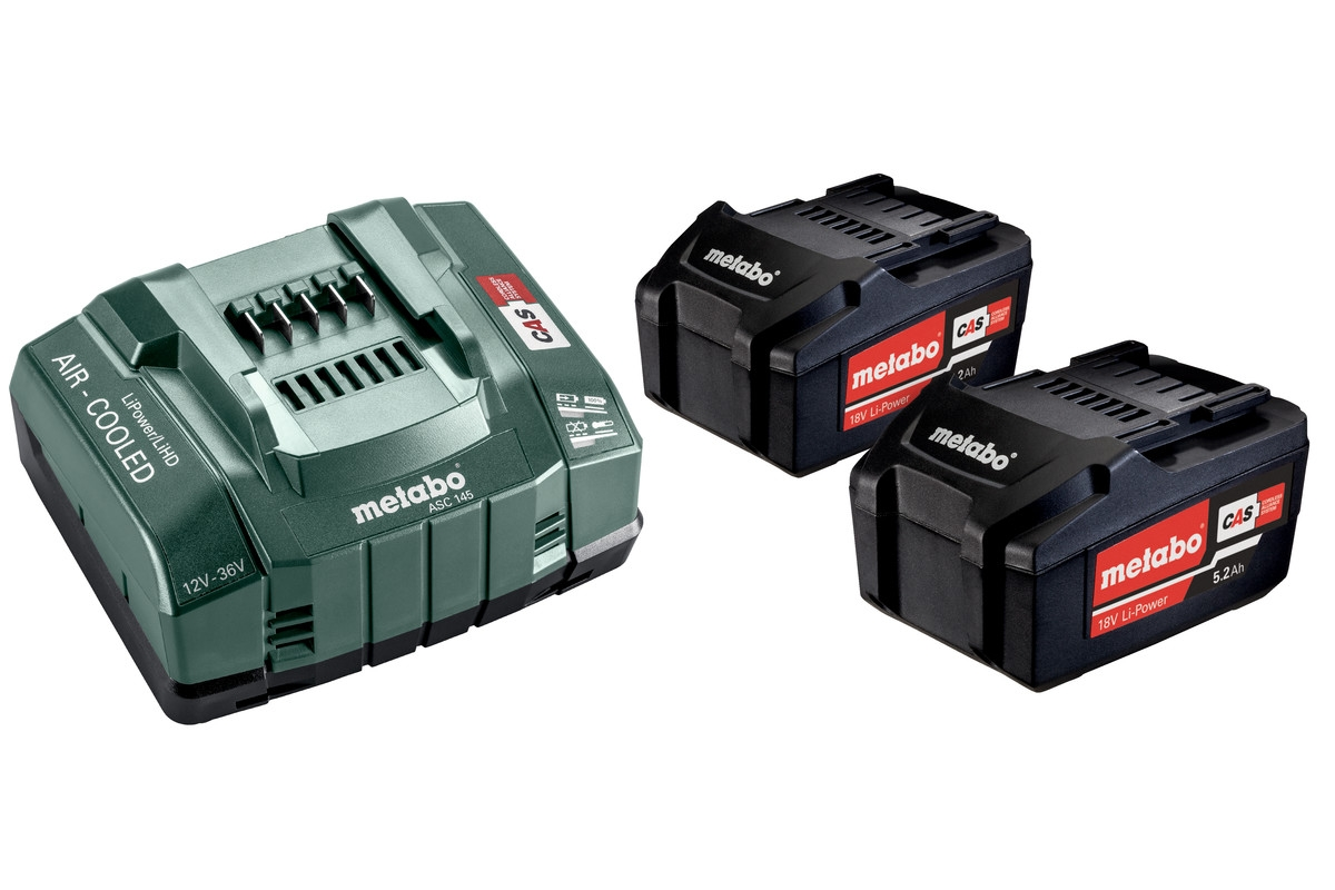 METABO BASIC-SET 2 X 5.2 AH...